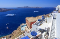 Fira with Thirasia in the background