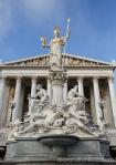 Austrian Parliament entrance